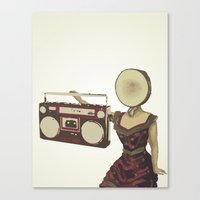 neutral milk hotel Canvas Prints featuring Neutral Milk Boombox by AudioVisuals