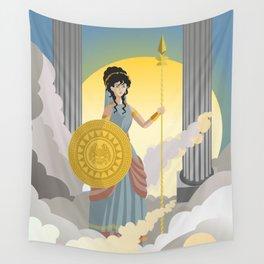 minerva athena goddess Wall Tapestry