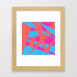 Geometric abstract Framed Art Print