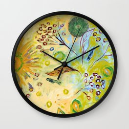 Immersed in Shallow Waters Wall Clock