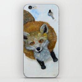 Fox and Chickadee iPhone Skin