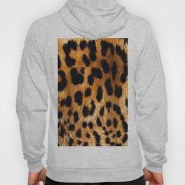 Vegan Leopard Skin Animal Fur Design Hoody