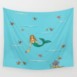 Fashionable mermaid Wall Tapestry