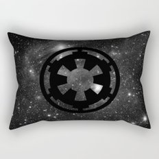 Cosmic Galactic Empire in Black and White Rectangular Pillow