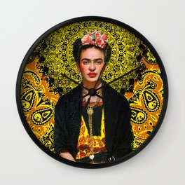 Frida Kahlo 3 Wall Clock