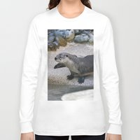 otter Long Sleeve T-shirts featuring Otter by Phil Hinkle Designs