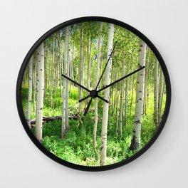 Aspen Trees Wall Clock