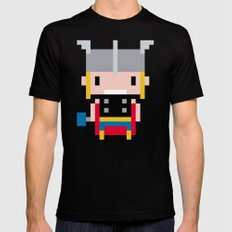 Pixel Thor Mens Fitted Tee SMALL Black