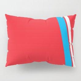 Red Slant Pillow Sham