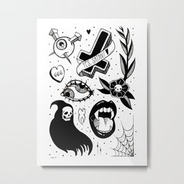 Witchy Flash Page Metal Print