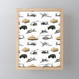 American Military Pattern Framed Mini Art Print