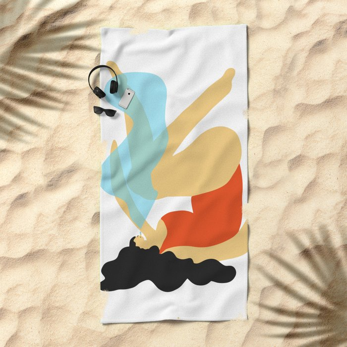 Girl Smoking Beach Towel