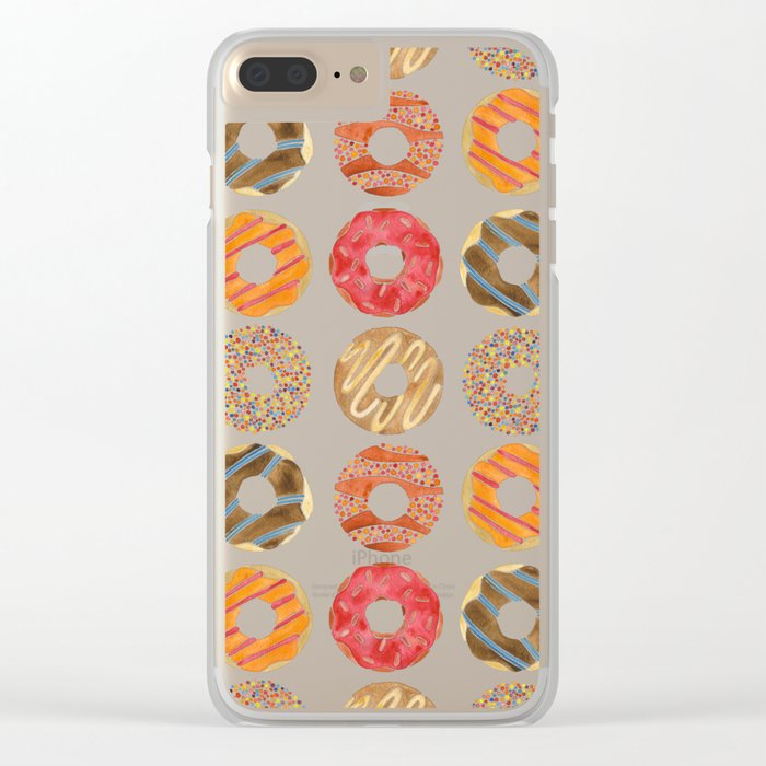 Half Dozen Donuts Clear iPhone Case