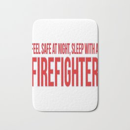 Firefighter Feel And Sleep Bath Mat