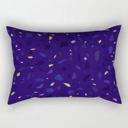 Blue Terrazzo Pattern Rectangular Pillow