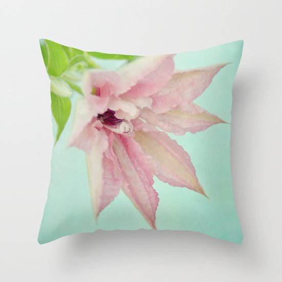 delicate pink Throw Pillow