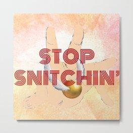 """Stop Golden Snitchin'"" Print Crimson/Gold 1/2 Metal Print"