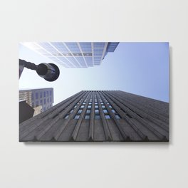 Skyscrapers from the street Metal Print