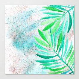 green teal sparkle glittter Canvas Print