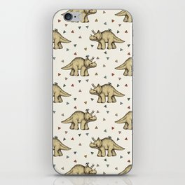 Triceratops & Triangles iPhone Skin