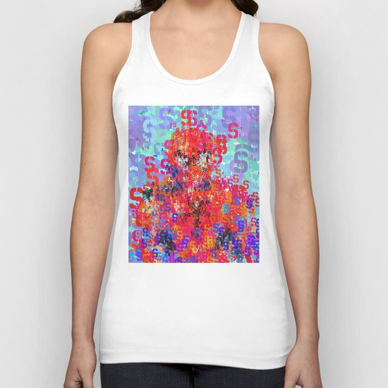 Spider Type Man - Abstract Pop Art Comic Unisex Tank Top