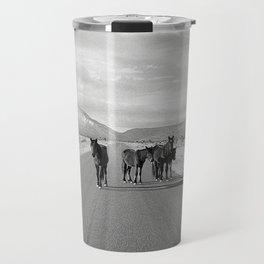 Spring Mountain Wild Horses Travel Mug