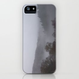 Panoramic photograph of West Devon valley iPhone Case