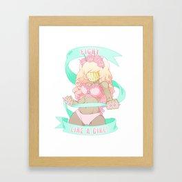 Fight Like a Girl! Framed Art Print