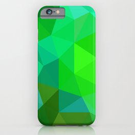 Emerald Low Poly iPhone Case