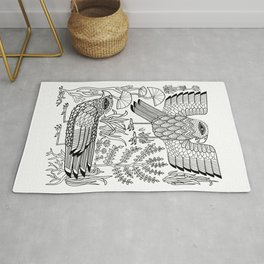 Ancient Birds Rug