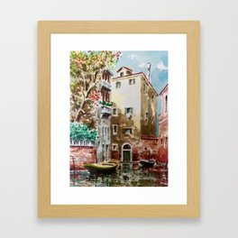 Watercolour in Venice Framed Art Print