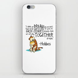 Calvin and Hobbes Dreams iPhone Skin