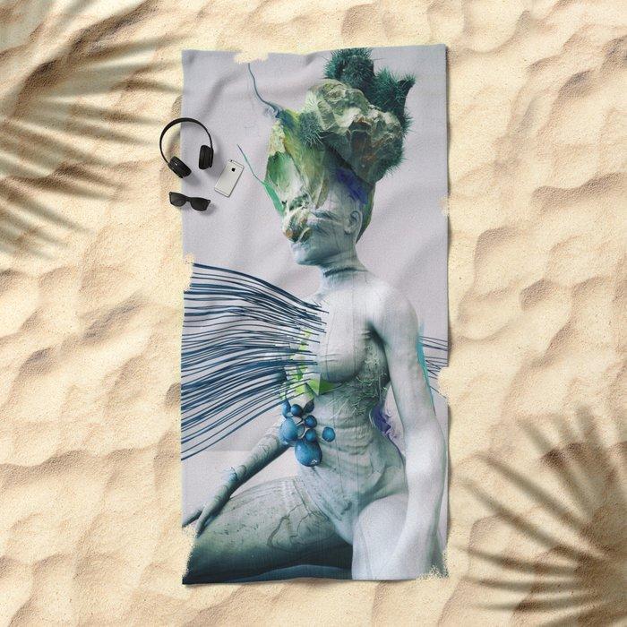 Nebbia Beach Towel
