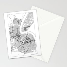 Every Parade Route in New Orleans Stationery Cards