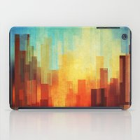 texture iPad Cases featuring Urban sunset by SensualPatterns