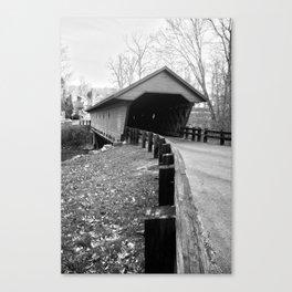Newfield Covered Bridge 1853 Canvas Print