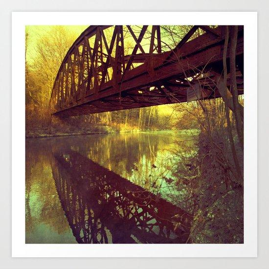 dream bridge Art Print