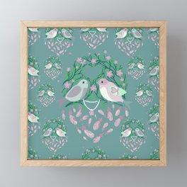 Love is in the air Spring Birds 04 Framed Mini Art Print
