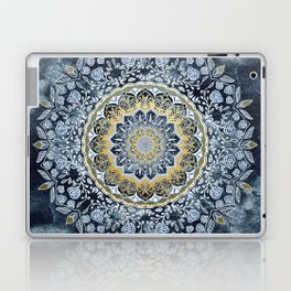 Blue Floral Mandala Laptop & iPad Skin