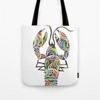 lobster Tote Bags featuring Lobster by Kate Allison