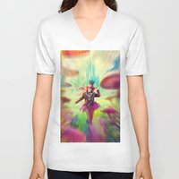 mad hatter V-neck T-shirts featuring Mad Hatter by dreamshade