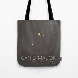 Canis Major - The Greater Dog Constellation Tote Bag