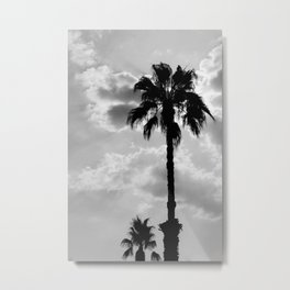Palm Trees In Black And White Metal Print