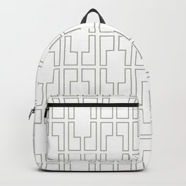 Simply Mid-Century Retro Gray on White Backpack