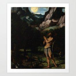 Moretto da Brescia - St. John the Baptist in the Wilderness Art Print