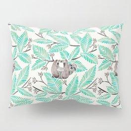 Happy Sloth – Tropical Mint Rainforest Pillow Sham