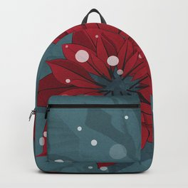 Poinsettias - Christmas flowers   BG Color II Backpack
