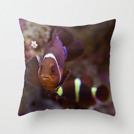 Red queen of the aquarium Throw Pillow