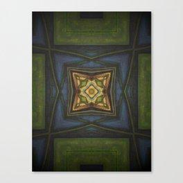 Celtic // Ireland Scotland Irish Green Blue Celt Druid Fairy Avalon Geometric Abstract Design Canvas Print