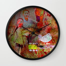 Slice of America  4 Wall Clock